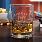 Personalized Monogram Carraway Engraved Whiskey Glass
