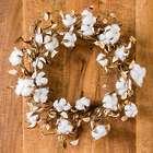 Natural Cotton Boll Stem Wreath