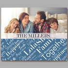 Custom Family Photo Word-Art Horizontal Canvas Art Print