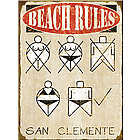 Naughty Beach Rules Personalized Sign