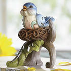 Hand Painted Bluebird Figurine
