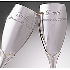 Crystal Accents Wedding Flutes