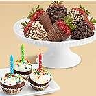 Birthday Brownie Pops and Half Dozen Chocolate Strawberries