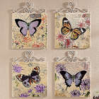 4-Piece Butterfly Wall Plaque Set