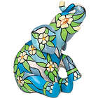 Dogwood Stained Glass Elephant Figurine