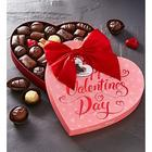 Valentine's Day Chocolates in Heart-Shaped Gift Box