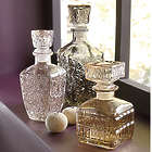 3 Etched Decanters Set