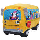 Wheelie Singing School Bus Plush Toy