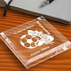 Personalized Soccer Keepsake & Paperweight