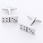 Dominoes Cuff Links with Personalized Case