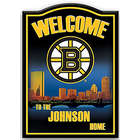 Boston Bruins Personalized Welcome Sign