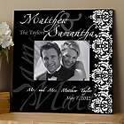 Personalized Damask Edge Wedding Wall Frame