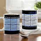 It's a Date Personalized Calendar Coffee Mug