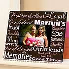 Pink and Brown Matron of Honor Personalized Picture Frame