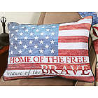 Home of the Free Because of the Brave Fleece Pillow