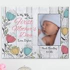 Her First Mother's Day Custom Photo Canvas Print