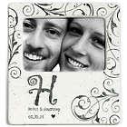 Couple's Personalized Monogram Handmade Ceramic Photo Frame