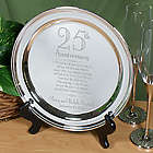 Personalized 25th Wedding Anniversary Silver Plate