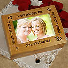 Heart to Heart Best Friends Photo Trinket Box