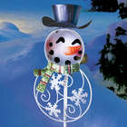 Snowman Solar Yard Stake