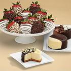 Cheesecake Trio and Fancy Chocolate Strawberries