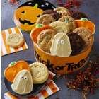 Halloween Decorated Cookies in Pumpkin Tin