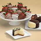 Dipped Cheesecake Trio and Swizzled Strawberries