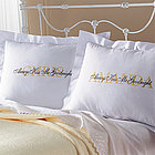 Personalized Always Kiss Me Goodnight Pillow Shams Set
