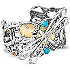 Fritz Casuse Mixed Metal Dragonfly Cuff Bracelet
