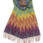 Multi-Colored Cashmink Chevron Scarf