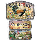 Country Farm Scenes Personalized Welcome Sign Collection
