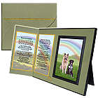 Beyond the Rainbow Poem Pet Memorial Keepsake Picture Frame