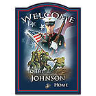 USMC Personalized Welcome Sign