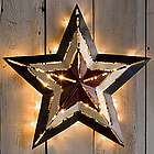 "Small 16"" Lighted Americana Metal Star"