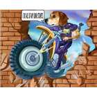 Stuntman Custom Photo Caricature Print