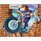 Stuntman Custom Photo Caricature Print