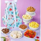 Hummingbird Garden Snacks and Sweets Gift Tower