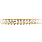 Womens Fancy Bracelet in 10K Two Tone Gold