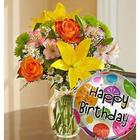 Fields of Europe Happy Birthday Floral Bouquet