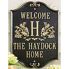 Monogram Cast Aluminum Welcome Plaque