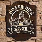 Bombshell Barmaid Custom Wood Bar Sign