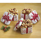 Mixed Nuts in Mini Christmas Bow Tins
