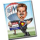 Real Estate Broker Custom Caricature