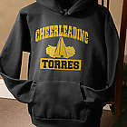 Personalized Sports Hooded Black Sweatshirt