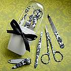 Damask Manicure Set