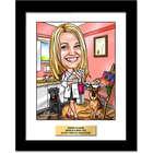 Personalized Veterinarian Caricature Artwork
