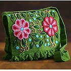 Aymara Flower Peruvian Wool Messenger Bag
