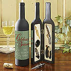 Personalized Christmas Tree Wine Accessory Kit