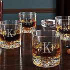 Classic Monogram Personalized Fairbanks Whiskey Glasses