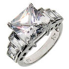 Dazzling Seven Stone Cubic Zirconia Engagement Ring